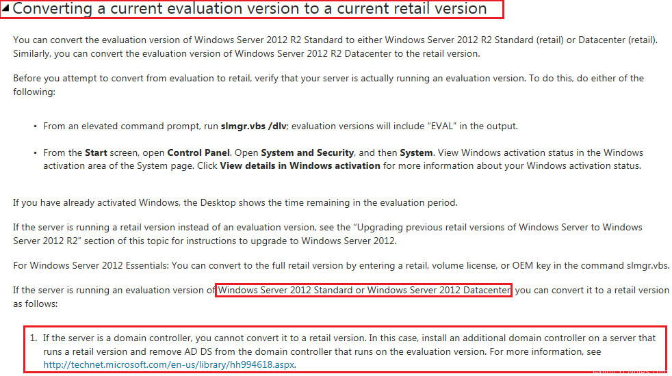 windows server 2012 standard product key trial